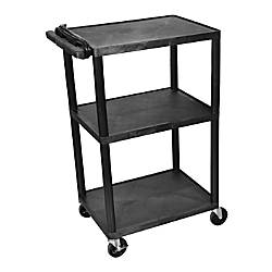Luxor Multimedia 3 Shelf Presentation Cart