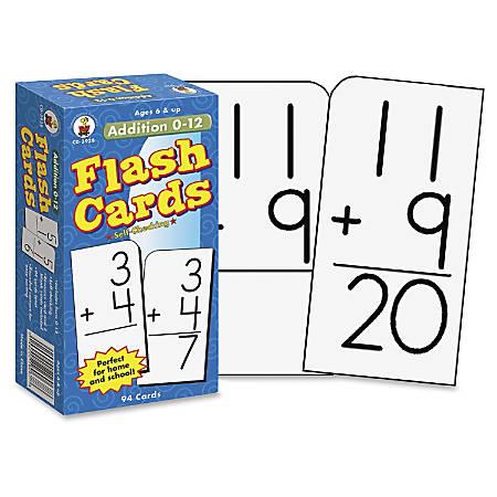 Carson-Dellosa Flash Cards — Addition 0-12