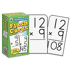 Carson Dellosa Flash Cards Multiplication 0