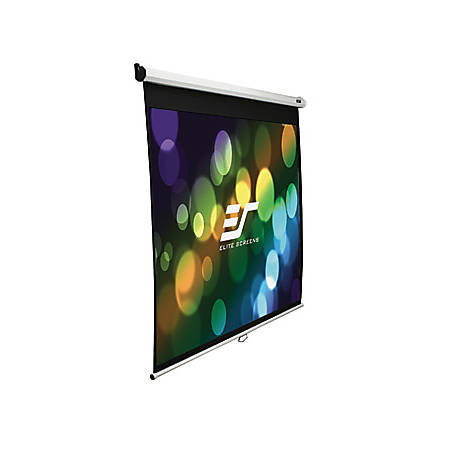 "Elite Screen Manual Wall And Ceiling Projection Screen, 120"", M120UWV2"