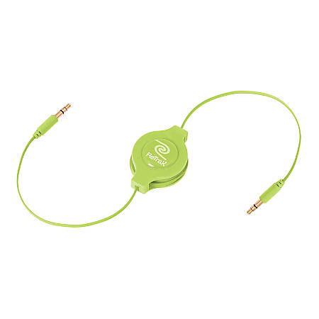 Emerge Retractable Green Auxiliary Cable