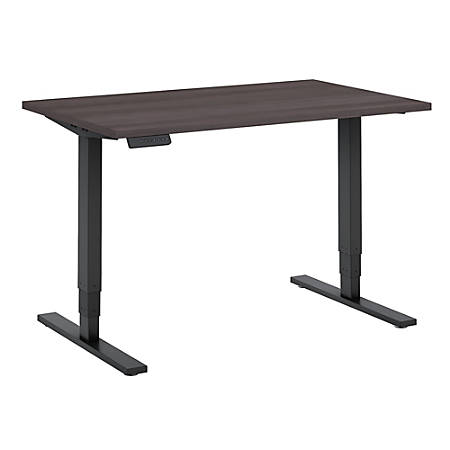 "Bush Business Furniture Move 80 Series 48""W x 30""D Height Adjustable Standing Desk, Storm Gray/Black Base, Premium Installation"