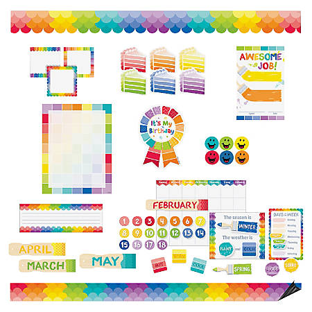 Creative Teaching Press Painted Design Bulletin Board Sets - Fun, Learning Theme/Subject - Multicolor - 1 Set
