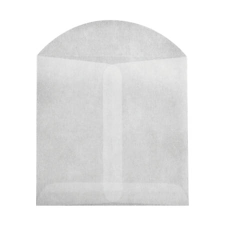 """LUX Open-End Envelopes With Flap Closure, 3 3/4"""" x 4 3/4"""", Glassine, Pack Of 50"""