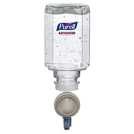 PURELL® ES Instant Hand Sanitizer Refill - 15.2 fl oz (450 mL) - Push Pump Dispenser - Kill Germs - Skin, Hand - Clear - Antimicrobial, Moisturizing - 16 / Carton