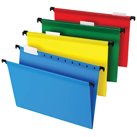 """Office Depot® Brand Hanging File Folders, 8 1/2"""" x 11"""", Letter Size, Assorted Colors, Box Of 20 Folders"""