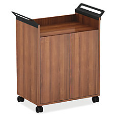 Lorell Mobile Storage Cabinet Walnut