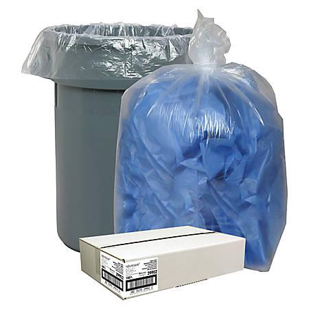 Nature Saver® Recycled Trash Bags, 55 Gallon, Box Of 100