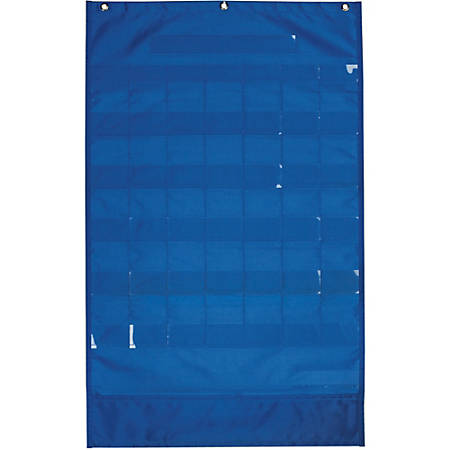 """Pacon Calendar and Weather Pocket Chart - 23.75"""" x 38"""" - 1 Chart - Blue - 120 Cards - English/Spanish Translations"""