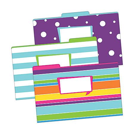 "Barker Creek Tab File Folders, 8 1/2"" x 14"", Legal Size, Happy, Pack Of 9"