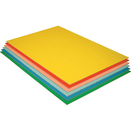 "Pacon Economy Foam Boards, 30"" x 20"", Assorted Colors, Pack Of 12"