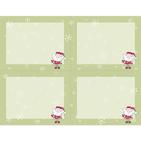 "Great Papers! Holiday Postcards, 4-Up, 8 1/2"" x 11"", Merry Christmas Santa, Pack Of 80"