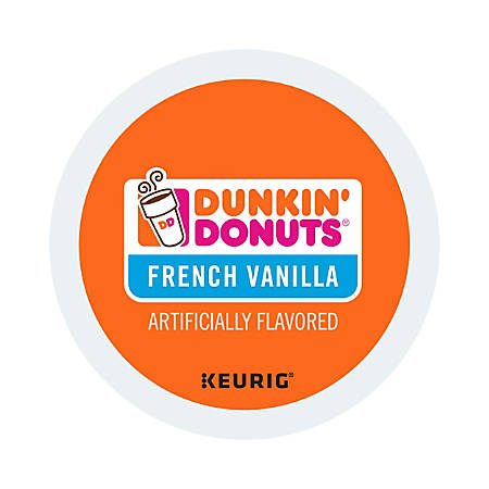 Dunkin' Donuts Coffee K-Cup® Pods, French Vanilla, 0.4 Oz, Box Of 24 Pods