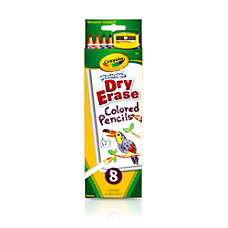 Crayola Dry Erase Colored Pencils Assorted