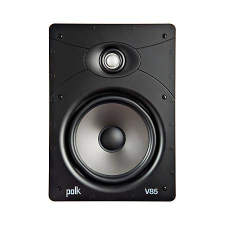 Polk Audio V85 Vanishing V Series High-Performance In-Wall Speaker, White, V85