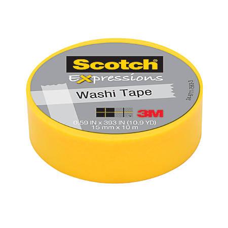 "Scotch® Expressions Washi Tape, 5/8"" x 393"", Orange"