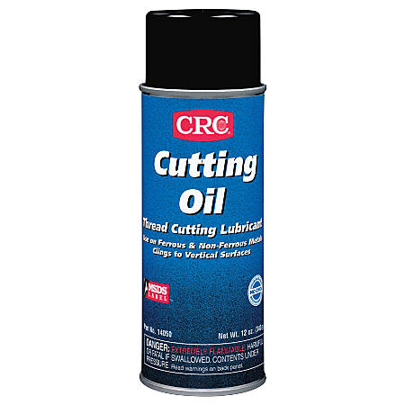 CRC Cutting Oil, 16 Oz Aerosol Cans, Pack Of 12 Cans