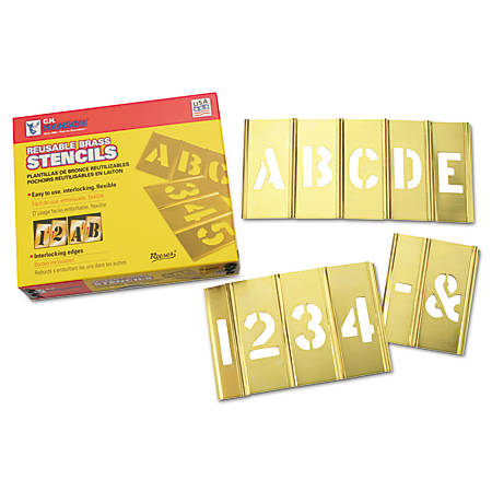 Brass Stencil Letter & Number Sets, Brass, 4 in