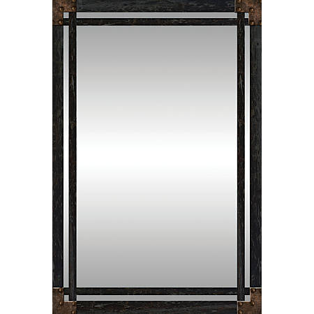 """PTM Images Framed Mirror, Wrought Iron, 30""""H x 20""""W, Charcoal"""
