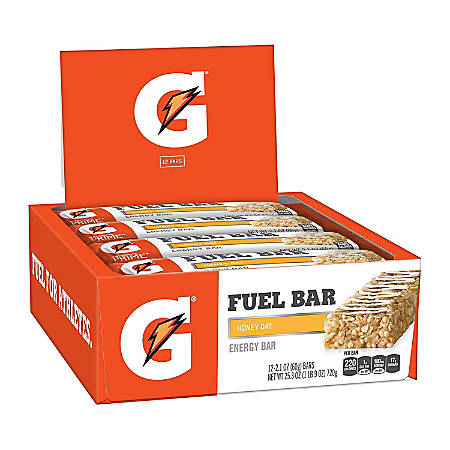 Gatorade Prime Fuel Bar Honey Oat, 2.1 oz, 12 Count