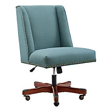 Linon Cooper Mid Back Chair Sea