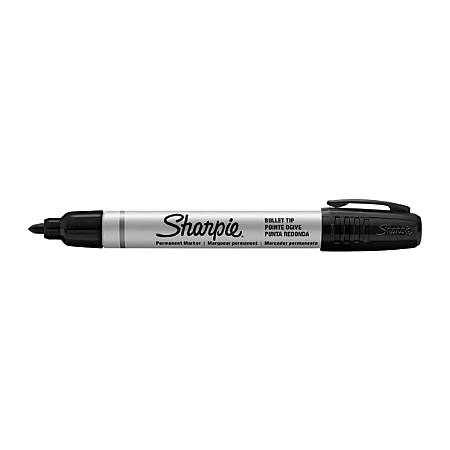 Sharpie® Pro Chisel Permanent Markers, Black Ink, Pack Of 12 Markers