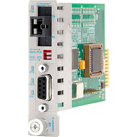 iConverter RS-232 Serial Single-Fiber Media Converter DB-9 SC Single-Mode BiDi 20km Module - 1 x RS-232, 1 x SC Single-Mode Single-Fiber (1550/1310), Internal Module, Lifetime Warranty