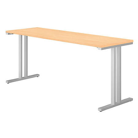 "Bush Business Furniture 400 Series Training Table, 72""W x 24""D, Natural Maple, Premium Installation"