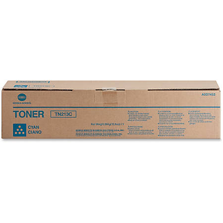 Konica Minolta TN-213C Original Toner Cartridge - Laser - 19000 Pages - Cyan - 1 Each