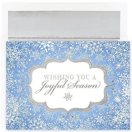 """Great Papers! Holiday Greeting Cards With Envelopes, 7 7/8"""" x 5 5/8"""", Joyful Season, Pack Of 18"""