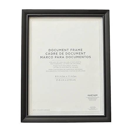 """Gartner™ Studios Document Frame, 8 1/2""""H x 11""""W, Black"""