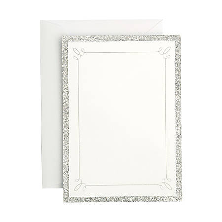 Gartner™ Studios Formal Invitations And Envelopes, Silver Glitter, Pack Of 25