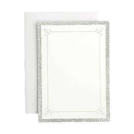 gartner studios formal invitations and envelopes silver glitter pack