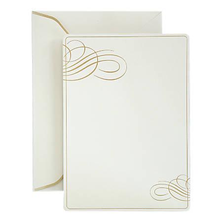 Gartner™ Studios Formal Invitations And Envelopes, Gold Foil Swirl, Pack Of 25