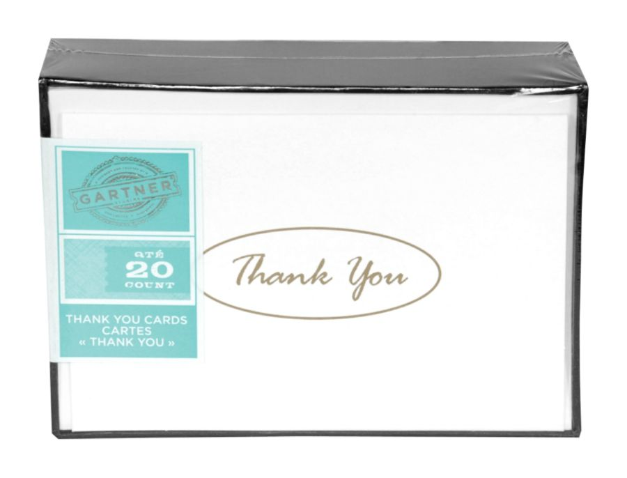 Gartner Studios Thank You Cards Gold Pack Of 20 By Office Depot