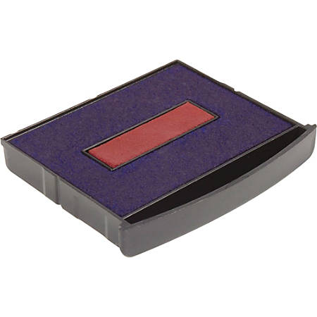 Xstamper Classix Self-inking Replacement Pad - 1 Each - Red, Blue Ink