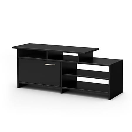 South Shore Step One TV Stand, Pure Black