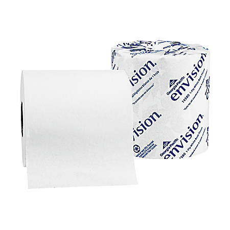 Georgia-Pacific Envision One-Ply Bathroom Tissue, 80 rolls of toilet tissue per Carton, Sold by the Carton