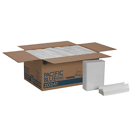 """Pacific Blue Select™ by GP Pro C-Fold 1-Ply Paper Towels, 10 1/4"""" x 13 1/4"""", White, 200 Towels Per Pack, Case Of 12 Packs"""