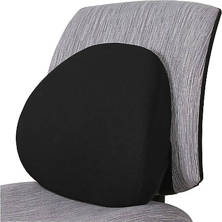 Lorell® Ergo Lumbar Back Support, Fabric, Black