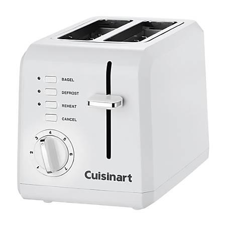 Cuisinart® 2-Slice Wide-Slot Toaster, White