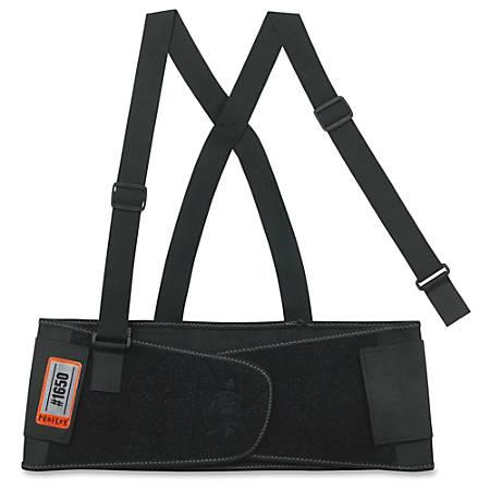"ProFlex Economy Elastic Back Support - Adjustable, Strechable, Comfortable - Strap Mount - 7.5"" - Black"