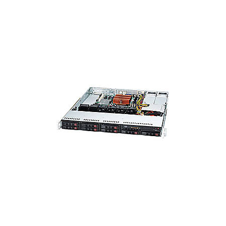 Supermicro SuperChassis SC113MTQ-R400CB System Cabinet - Rack-mountable - Black - 1U - 8 x Bay - 4 x Fan(s) Installed - 400 W - ATX, Micro ATX Motherboard Supported - 21 lb - 6 x Fan(s) Supported - 1x Slot(s)