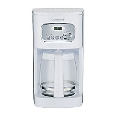 Cuisinart 12 Cup Programmable Coffeemaker White