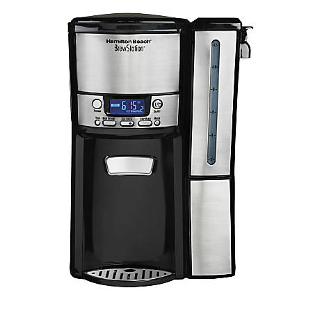 Hamilton Beach BrewStation 12 Cup Dispensing Coffeemaker (47950) - 12 Cup(s) - Multi-serve - Coffee Strength Setting - Yes - Black