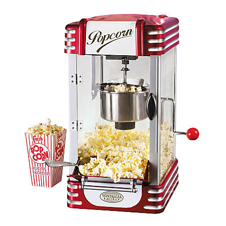 Nostalgia Electrics™ Retro-Style Kettle Popcorn Maker, Red
