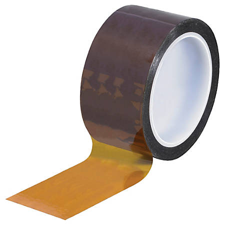 "Kapton® Sealing Tape, 3"" Core, 2"" x 108', 2 mils, Amber"