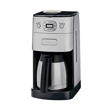 Cuisinart® Grind & Brew Thermal 10-Cup Programmable Coffeemaker, Black/Silver
