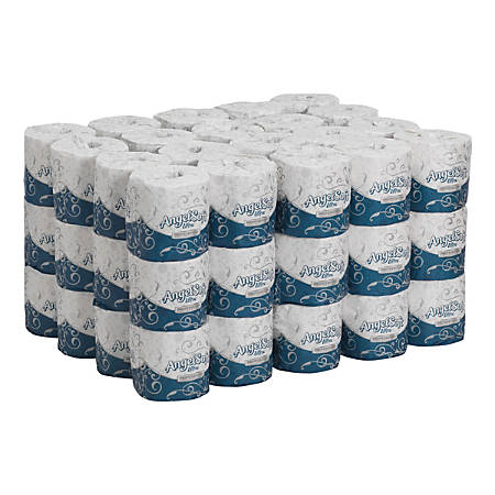 Angel Soft® Ultra Professional Series® by GP Pro 2-Ply Embossed Toilet Paper, 400 Sheets Per Roll, Case Of 60 Rolls