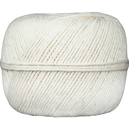 Quality Park All-Purpose Tying Twine - Cotton - 10 Ply(s) - 475 ft Length - White